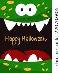 vector halloween holiday gift... | Shutterstock .eps vector #220703605