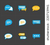 colorful speech bubble icons on ... | Shutterstock .eps vector #220715941
