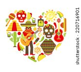 mexico travel traditional... | Shutterstock .eps vector #220716901