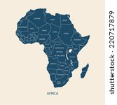 africa map with name of the... | Shutterstock .eps vector #220717879
