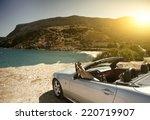women traveling in a... | Shutterstock . vector #220719907