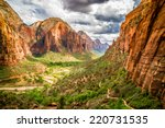 colorful landscape from zion national park utah