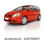 red 3d car | Shutterstock . vector #220740859