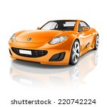 luxury 3d sports car | Shutterstock . vector #220742224