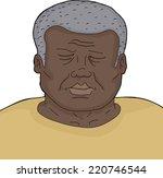 dead senior male close up over... | Shutterstock .eps vector #220746544