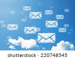 e mail icon pattern cloud... | Shutterstock . vector #220748545