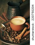 Coffee Cup  Beans  Cinnamon An...