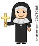 nun with golden cross   vector... | Shutterstock .eps vector #220750885