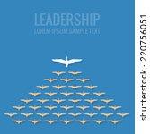 leadership concept flat design | Shutterstock .eps vector #220756051