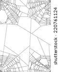 illustration with spider web... | Shutterstock .eps vector #220761124