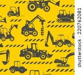heavy construction machines... | Shutterstock .eps vector #220762081