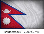 Nepal Flag Pattern On The...