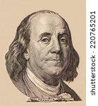 portrait of benjamin franklin | Shutterstock . vector #220765201
