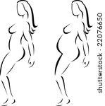 female and pregnant figure | Shutterstock . vector #22076650