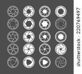 camera shutter icon set  vector ... | Shutterstock .eps vector #220769497