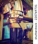 espresso coffee making by... | Shutterstock . vector #220769731