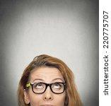 closeup portrait headshot woman ...   Shutterstock . vector #220775707