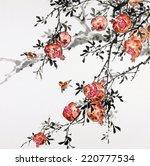 peach. longevity .traditional... | Shutterstock . vector #220777534