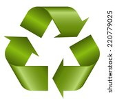 recycling symbol green | Shutterstock .eps vector #220779025