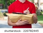 Delivery Man Filling In Forms...