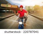 pizza guy | Shutterstock . vector #220787041