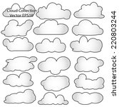 clouds collection | Shutterstock .eps vector #220803244