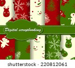 set of vector christmas paper... | Shutterstock .eps vector #220812061