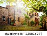 traditional italian villa ... | Shutterstock . vector #220816294
