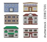 house and building set. home... | Shutterstock . vector #220817101