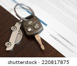 car loan application with car... | Shutterstock . vector #220817875