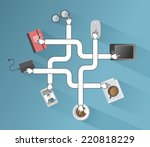 business applications and icons ... | Shutterstock .eps vector #220818229