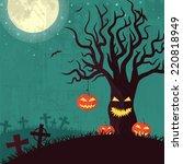 halloween time background... | Shutterstock . vector #220818949