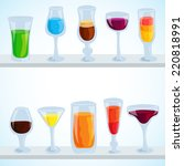 colorful coctail illustration... | Shutterstock . vector #220818991
