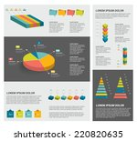 collection of infographics... | Shutterstock .eps vector #220820635