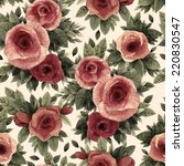 seamless floral pattern with... | Shutterstock . vector #220830547