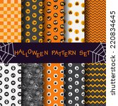 10 different halloween seamless ... | Shutterstock .eps vector #220834645