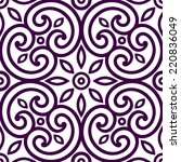 decorative geometric seamless... | Shutterstock .eps vector #220836049
