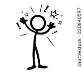stick figure business ideas  | Shutterstock .eps vector #220840597