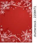 vector snowflake background on... | Shutterstock .eps vector #2208471