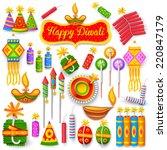 illustration of set of colorful ... | Shutterstock .eps vector #220847179