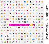 set of business stickers   Shutterstock . vector #220848394
