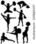 collection of silhouettes of... | Shutterstock .eps vector #220860157