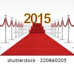 golden 2015 and red carpet | Shutterstock . vector #220860205