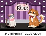Stock vector a vector illustration of pet boutique 220872904
