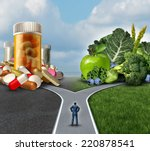medication decision concept and ... | Shutterstock . vector #220878541