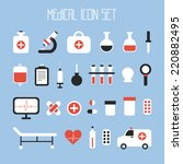 medical and health vector... | Shutterstock .eps vector #220882495