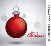 christmas graphic design  ... | Shutterstock .eps vector #220899589