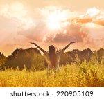 happy girl    Shutterstock . vector #220905109