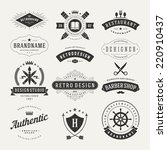 retro vintage insignias or... | Shutterstock .eps vector #220910437
