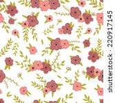 retro flowers pattern in vector.... | Shutterstock .eps vector #220917145
